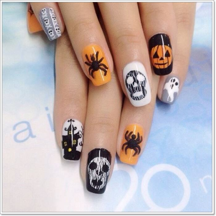 1582543772 401 105 Glitzy Halloween Nails to Rock Your Party Looks