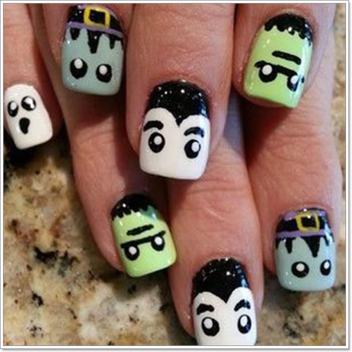 1582543772 701 105 Glitzy Halloween Nails to Rock Your Party Looks