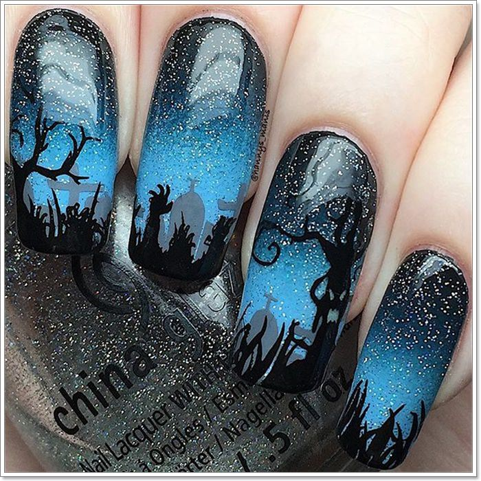 1582543775 139 105 Glitzy Halloween Nails to Rock Your Party Looks