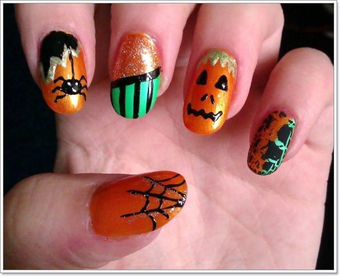 1582543775 400 105 Glitzy Halloween Nails to Rock Your Party Looks