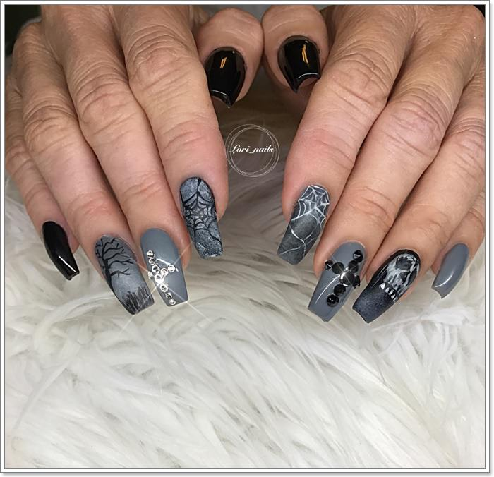 1582543776 58 105 Glitzy Halloween Nails to Rock Your Party Looks