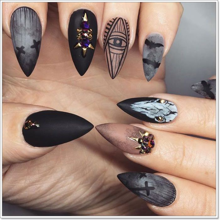 1582543781 915 105 Glitzy Halloween Nails to Rock Your Party Looks