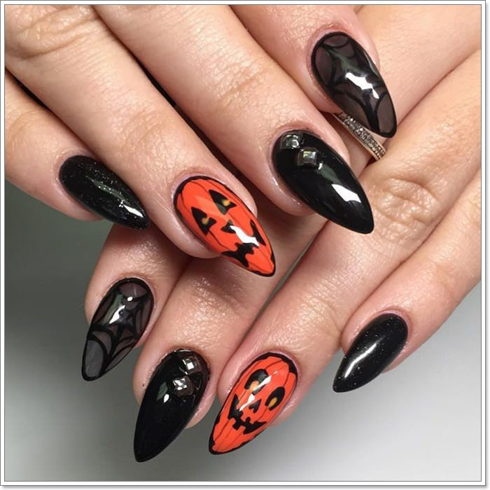 1582543782 442 105 Glitzy Halloween Nails to Rock Your Party Looks