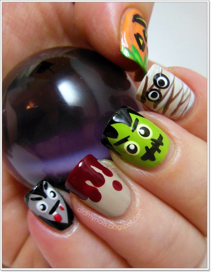 1582543782 81 105 Glitzy Halloween Nails to Rock Your Party Looks