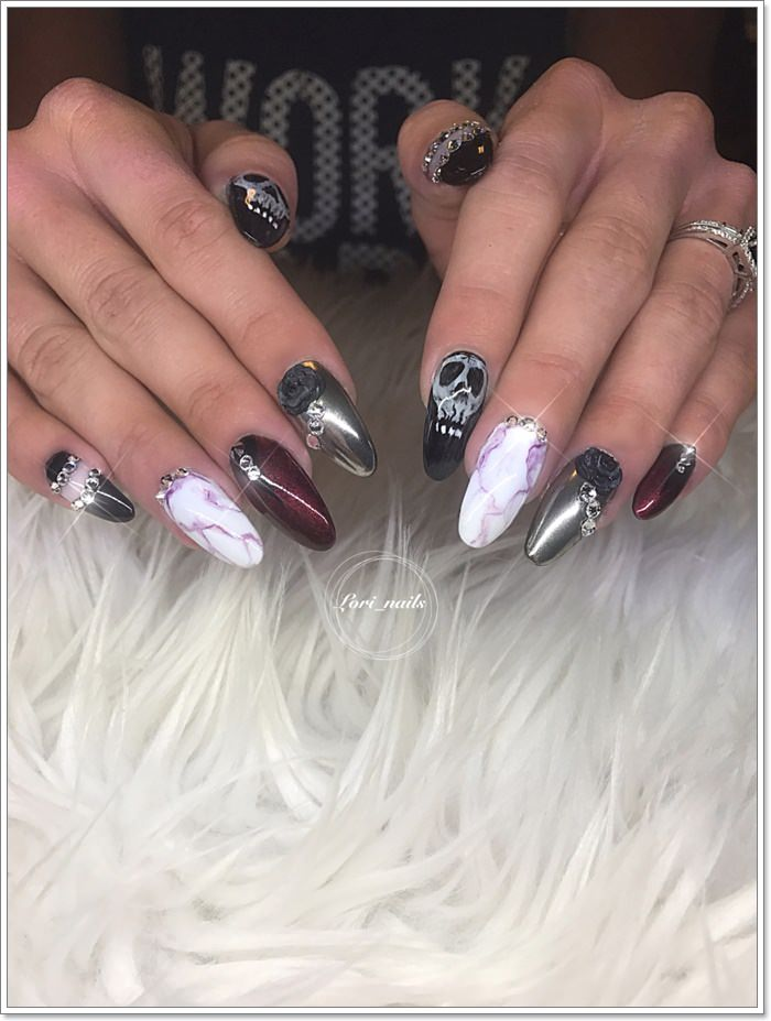 1582543783 522 105 Glitzy Halloween Nails to Rock Your Party Looks