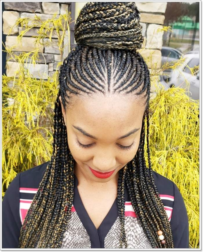 1582544122 390 101 Chic and Trendy Tribal Braids for Your Inner Goddess