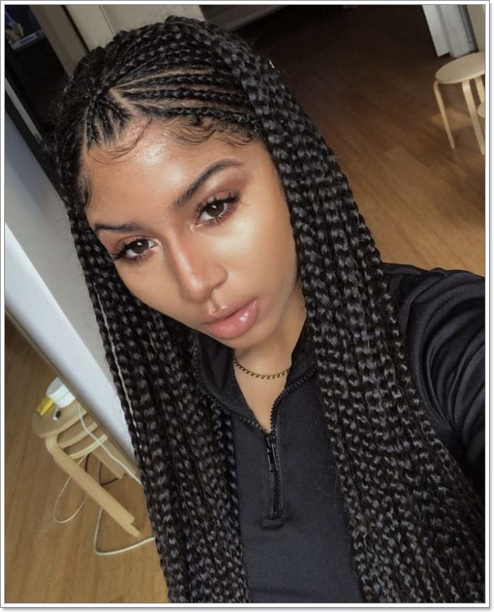 1582544129 32 101 Chic and Trendy Tribal Braids for Your Inner Goddess