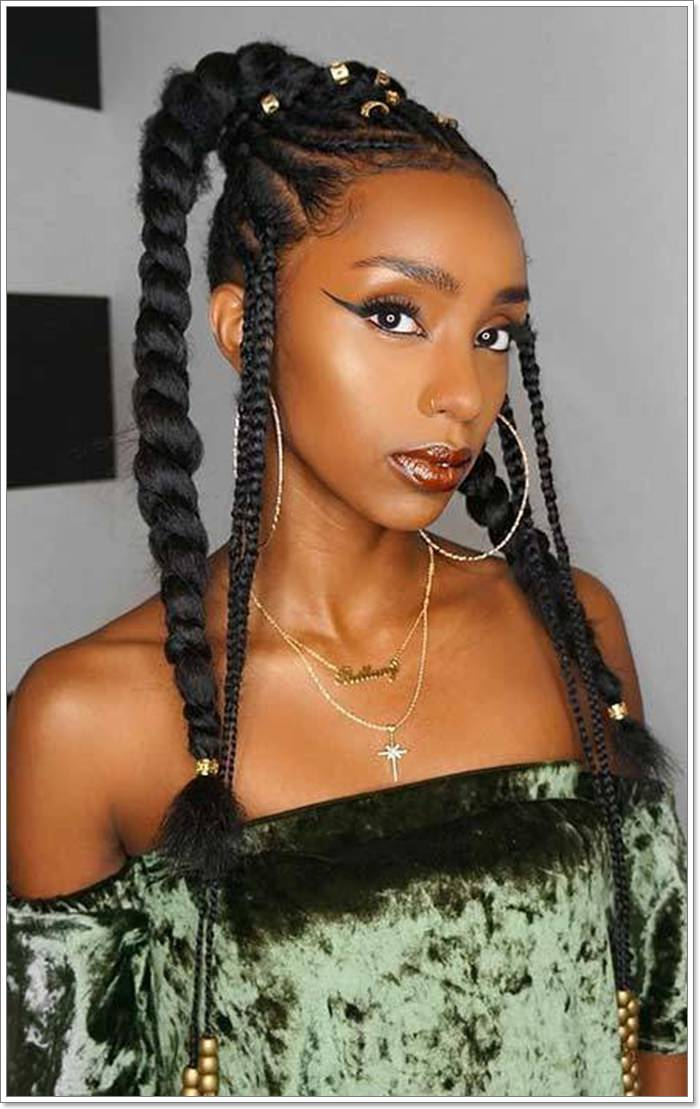 1582544130 768 101 Chic and Trendy Tribal Braids for Your Inner Goddess