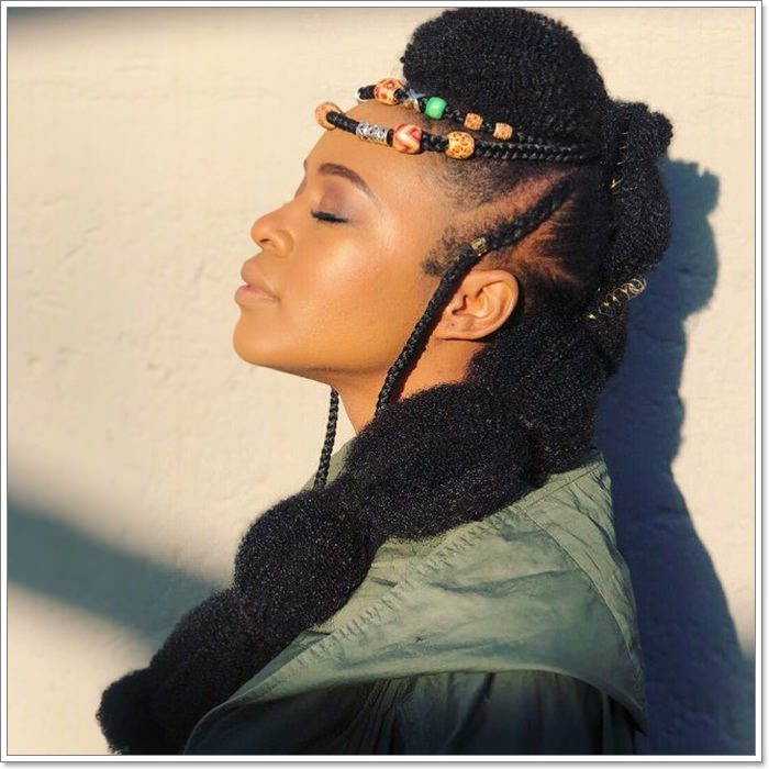 1582544132 865 101 Chic and Trendy Tribal Braids for Your Inner Goddess