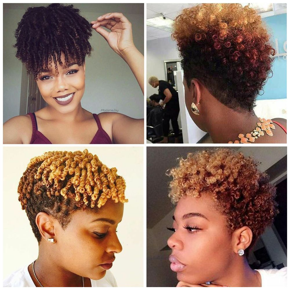 Updos with Finger Coils