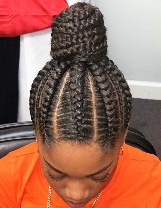 Traditional African Braided Bun