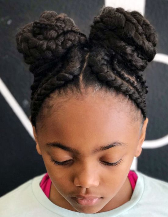 Kids Side Bun styles