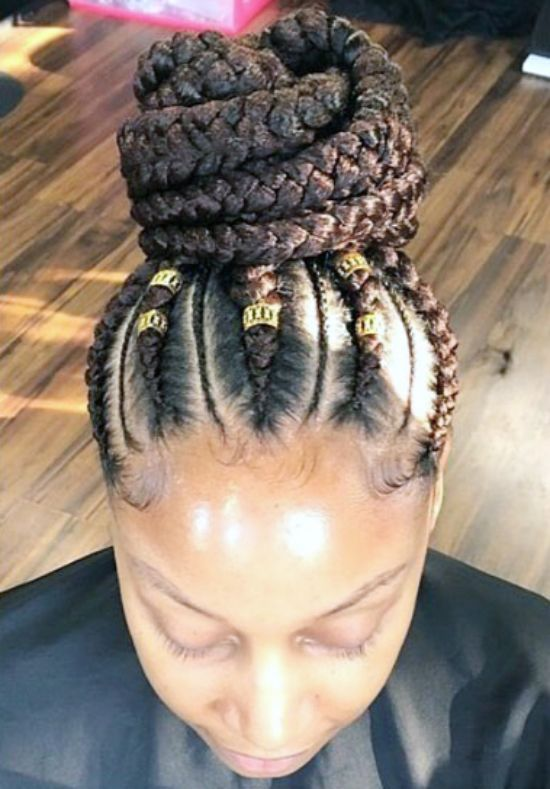 Giant Braids with Beads