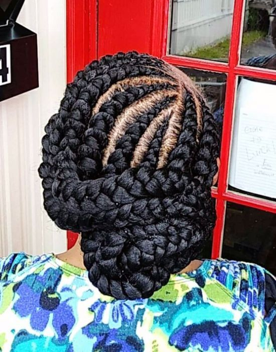 Buns for Thick Braids