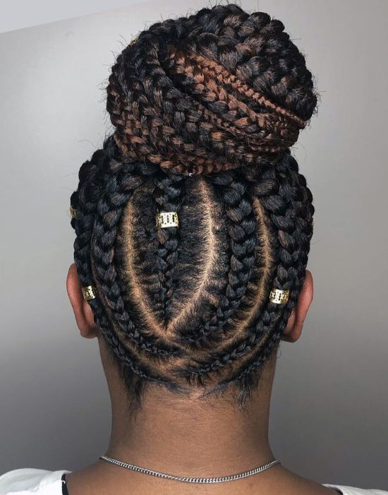 Braids, Beads and Bun