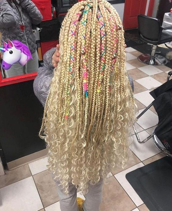 blonde bohemian box braids