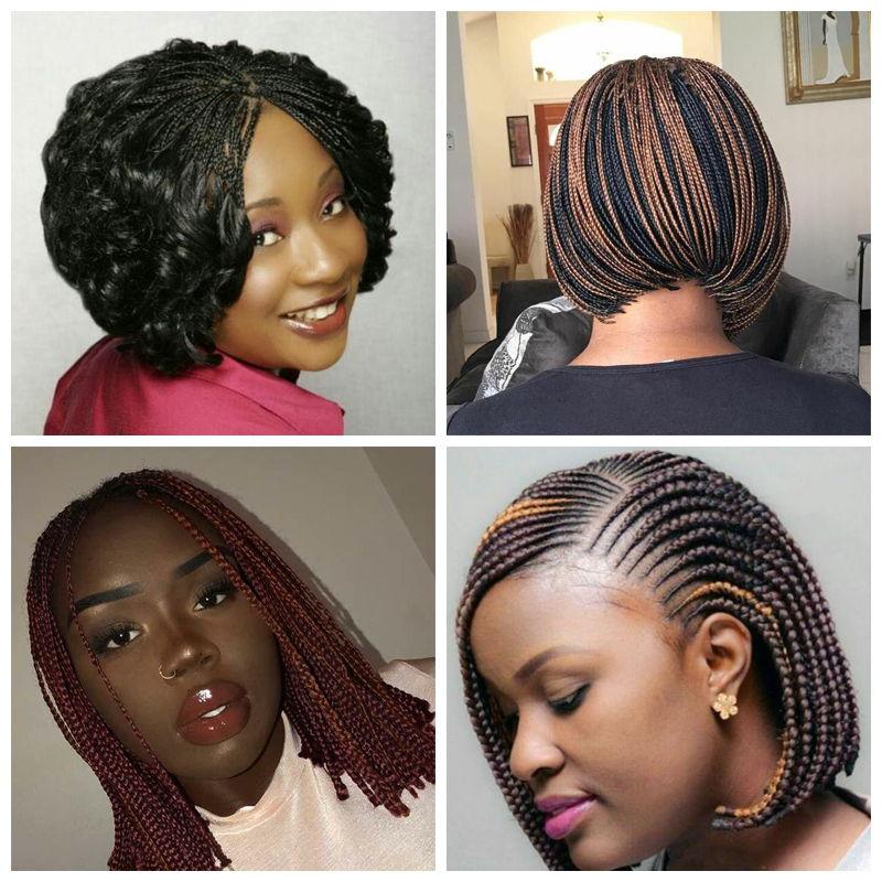 Micro Braids Bob hairstyles