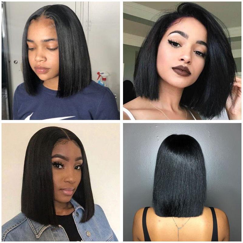 Shoulder-Length Bob Haircuts for dark Women