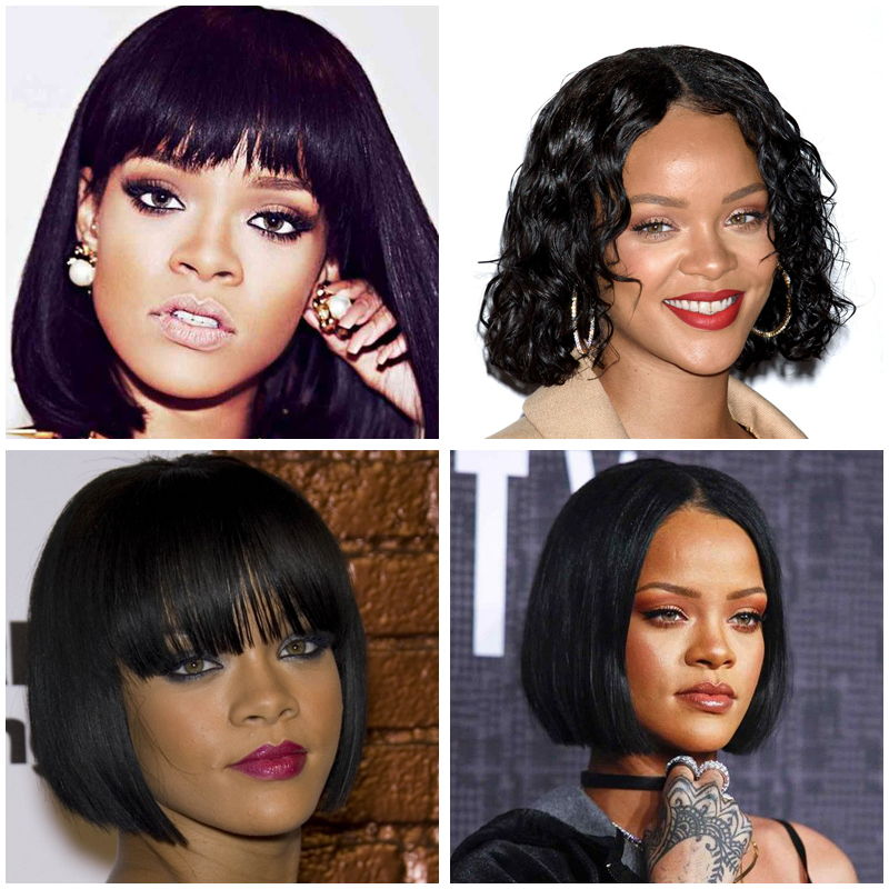 Rihanna with Short Hairstyles
