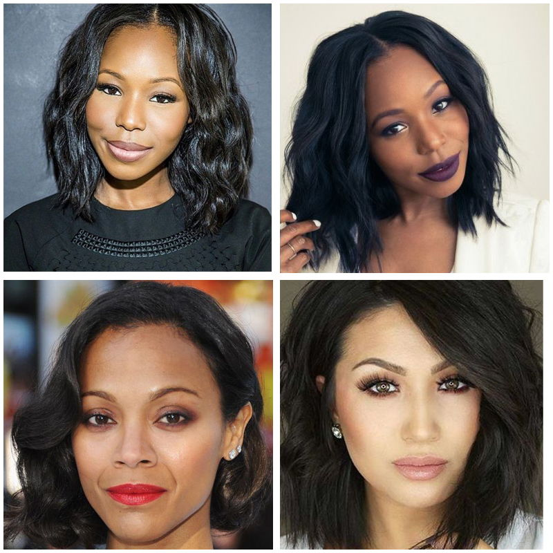 Wavy Bob Haircuts for Ebony Girls