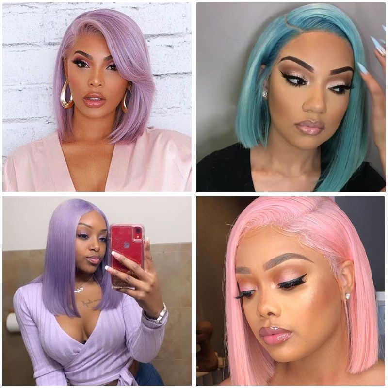 Synthetic Wigs with Color