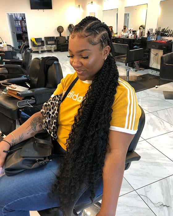 1582616731 490 25 Gorgeous Braids with Curls That Turn Heads