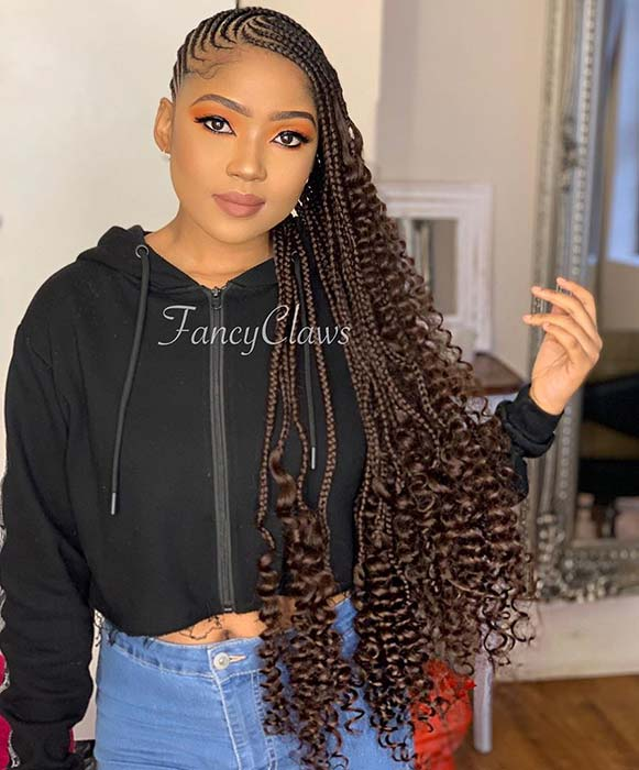 1582616731 80 25 Gorgeous Braids with Curls That Turn Heads