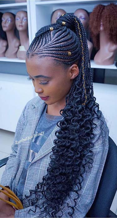 1582616731 81 25 Gorgeous Braids with Curls That Turn Heads