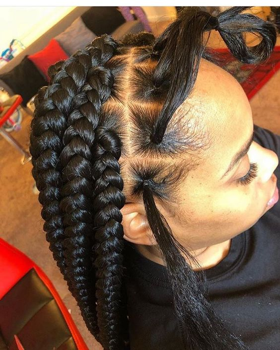 Cornrows Braided Hairstyles 2019:25 Big Box Braids