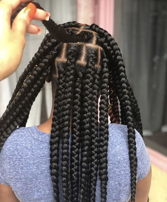 1582814869 786 Cornrows Braided Hairstyles 201925 Big Box Braids Cornrows That Will Make You Stand Out