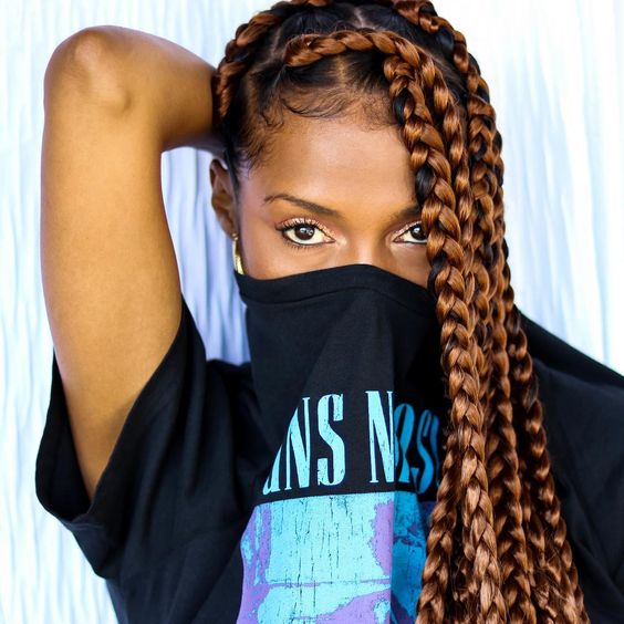 1582814870 111 Cornrows Braided Hairstyles 201925 Big Box Braids Cornrows That Will Make You Stand Out