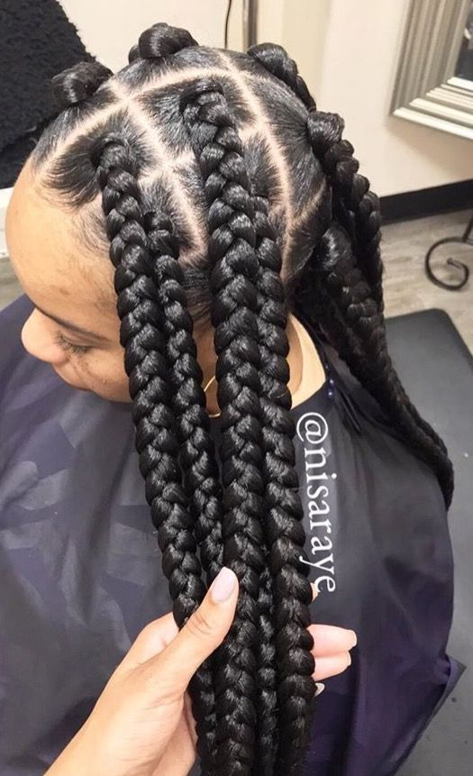 1582814870 163 Cornrows Braided Hairstyles 201925 Big Box Braids Cornrows That Will Make You Stand Out