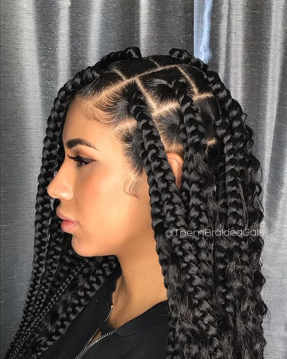 1582814870 305 Cornrows Braided Hairstyles 201925 Big Box Braids Cornrows That Will Make You Stand Out