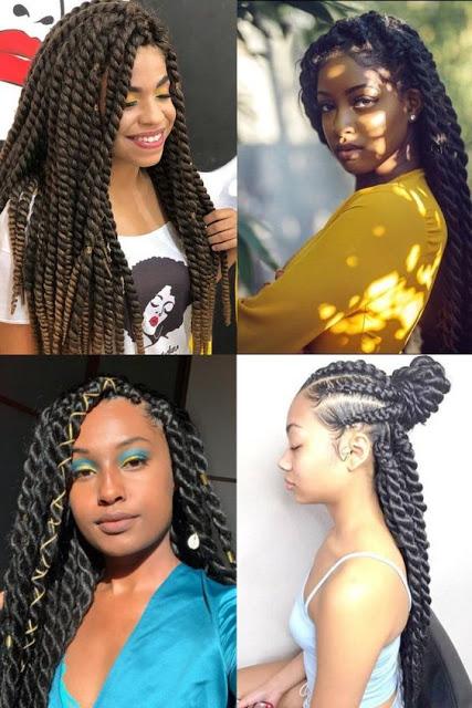 Havana Twist Braids Hairstyles 2020