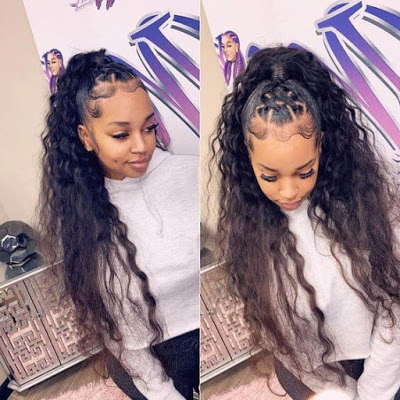29 amazing braided updos ponytails for black hair that