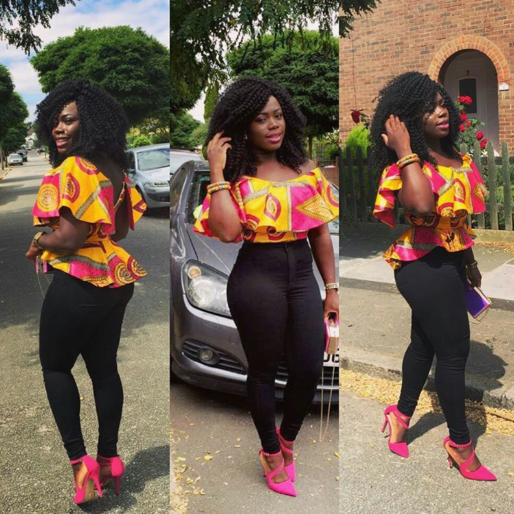 Greatest Ankara Tops On Denims For Stars