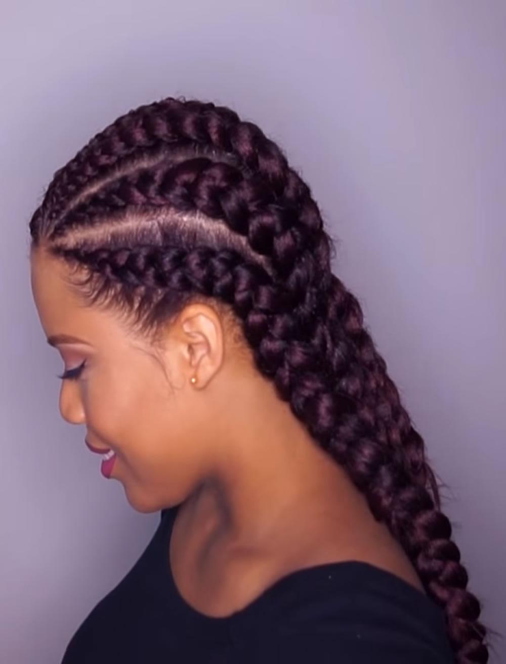 Big cornrow braid styles for r