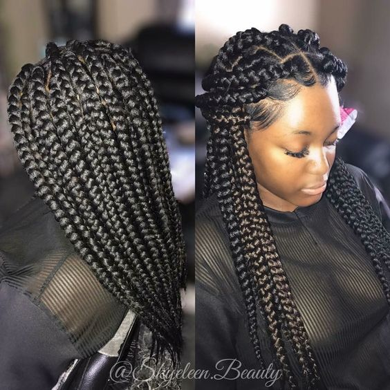 Cornrows Braided Hairstyles 201925 Big Box Braids Cornrows That Will Make You Stand Out