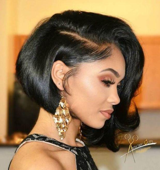 1 asymmetrical bob for black women