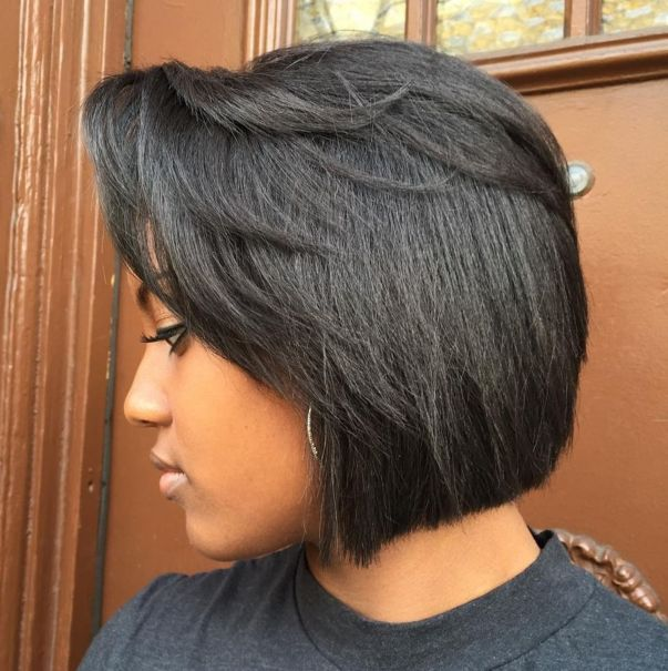 1 blunt bob with feathered layers