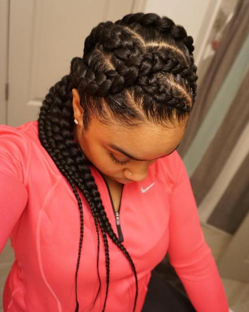 1 long curvy goddess braids