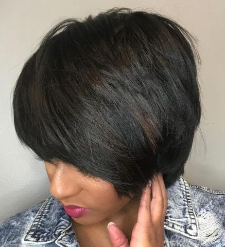 1 short layered cut with bangs