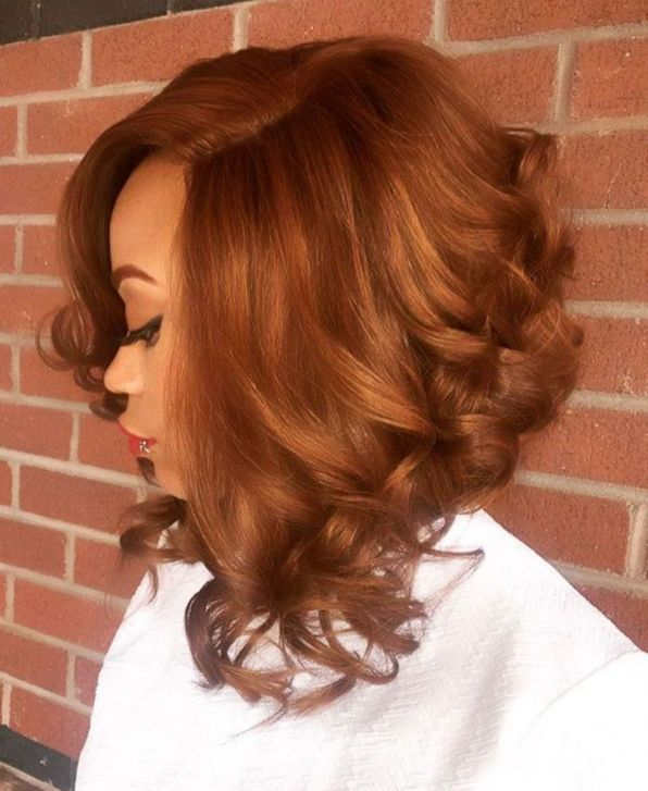 11 angled lob with curled ends