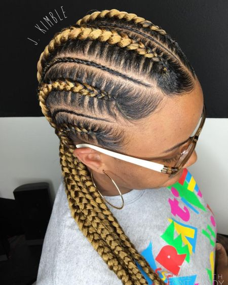 11 blonde cornrows for black hair