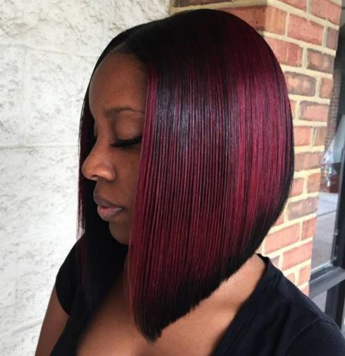 12 burgundy balayage bob for black women