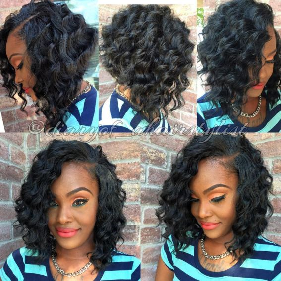 2 africanamerican angled curly bob