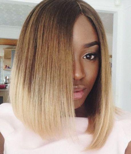 2 long bob hairstyles for black women