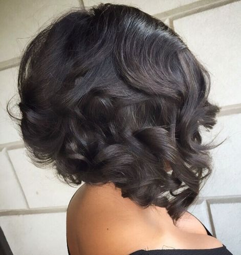 4 curly angled bob for black women