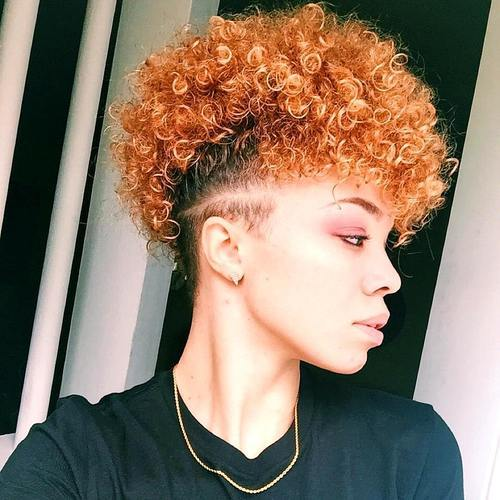 4 red natural hair mohawk