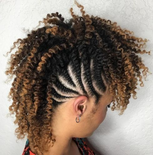 5 african american curly braided mohawk